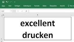 Excel 2016: Druckbereich festlegen und Probleme beim Drucken lösen, Hochformat und Querformat