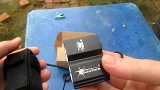 Посылка с АлиЭкспресс Вело фара SolarStorm (аккумуляторный)