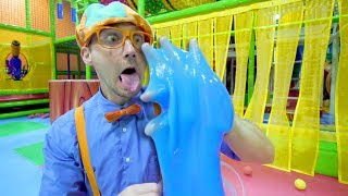 Blippi Learns the 5 Senses at a Play Place | Educational Toddler Videos