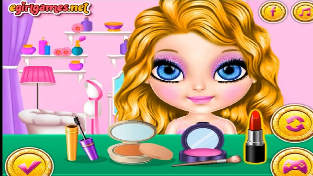 Baby Barbie Glittery Fashion Makeup Game Baby Barbie