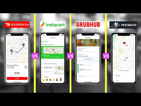 Best Food Delivery Service of 2020 (HONEST REVIEW) DoorDash vs Grubhub vs Postmates vs Instacart