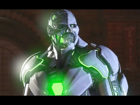 Injustice 2 Cyborg vs Grid Cutscene