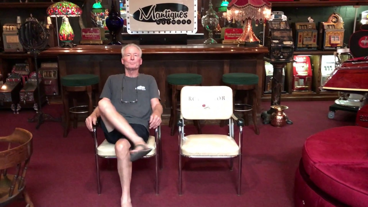 Vintage 1940u0027s RCA VICTOR Records Corporate Branded Chairs FOR SALE $750  sc 1 st  YouTube & Vintage 1940u0027s RCA VICTOR Records Corporate Branded Chairs FOR SALE ...