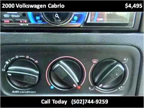 2000 Volkswagen Cabrio Used Cars Louisville KY