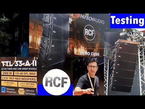 Rcf DJ Testing Base And Line Array