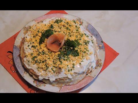 Торт с семгой