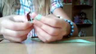 2 видео урок про браслеты из ленточек  от Оли и Насти