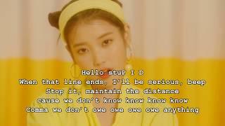 IU   Bbibbi (English Lyrics)