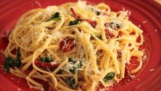 Spinach Linguine W/ Sun Dried Tomatoes Recipe    Kin Eats
