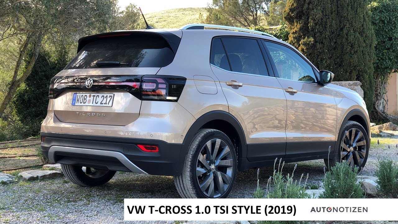 vw t cross 1 0 tsi 115 ps style 2019 fahrbericht test. Black Bedroom Furniture Sets. Home Design Ideas