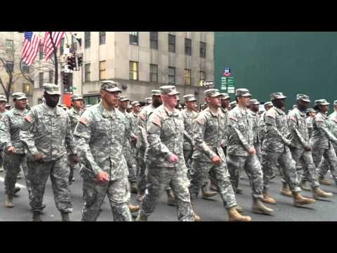 UNITED STATES ARMY SOLDIERS PARTICIPATING IN TODAY'S VETERANS DAY PARADE ON 5TH AVE. IN MANHATTAN.