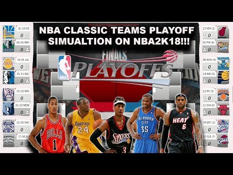 NBA CLASSIC TEAMS Playoff Simulation on NBA2K18!!!