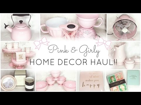 Pink Home Decor & Essentials Haul!! ♡ HomeGoods, TJ Maxx, Kate Spade, Cynthia Rowley & Nicole Miller