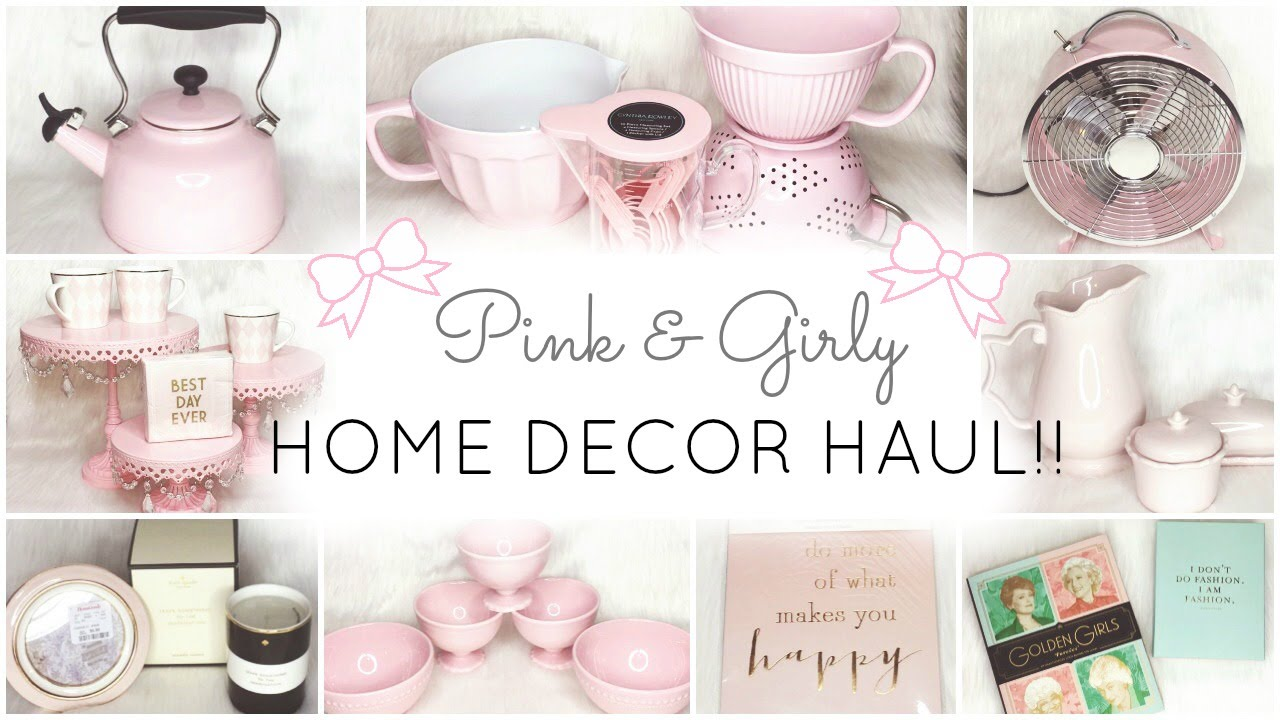Pink Home Decor Essentials Haul Homegoods Tj Maxx