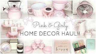 pink home decor essentials haul homegoods tj maxx kate spade cynthia rowley nicole miller