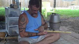 "Make Cane Native American  ""style"" Cherokee ""style"" Flute Instructions Part 1 Real time 25 min"