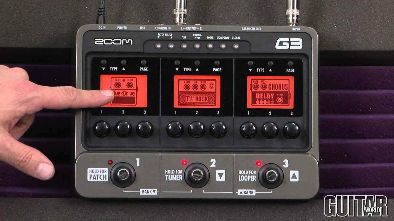 zoom g3 guitar effects and amp simulator youtube. Black Bedroom Furniture Sets. Home Design Ideas