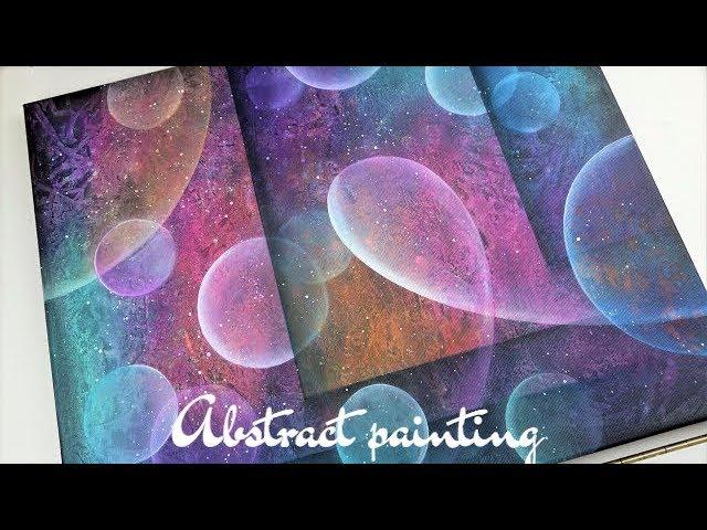 Acrylic Abstract Art Tutorial Universe Painting How To Blend Acrylics Abstract Painting Techniques
