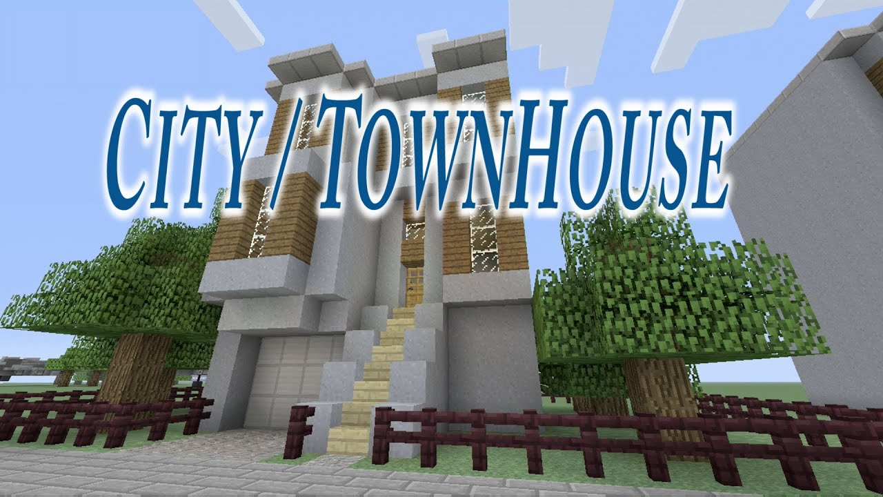 Lets Build a City House in Minecraft YouTube