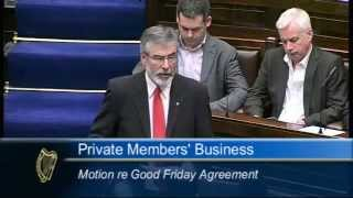 Gerry Adams - British government is undermining Good Friday Agreement
