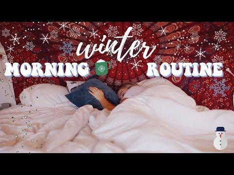 WINTER MORNING ROUTINE 2018! | Rebecca Ellie thumbnail
