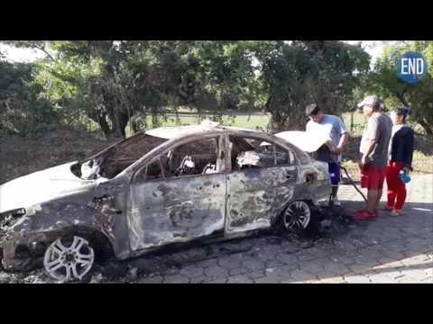 Matan y queman a un hombre en un taxi en Leon