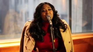 "Jazmine Sullivan Performing ""Hood Love"" Live Acoustic at Press Listening Event 1/12/15"