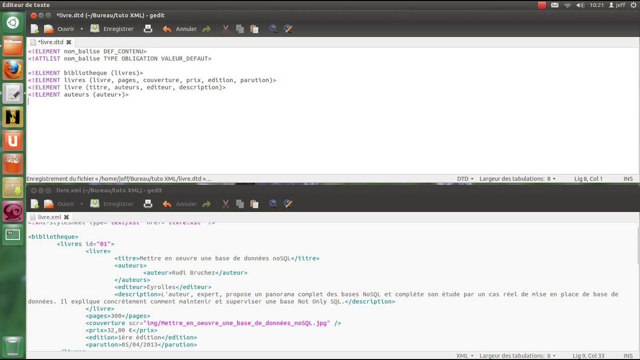 Tutoriel Xml Creation D Un Fichier Dtd