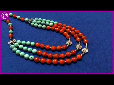 Multilayer Beads Necklace Making | Basic Handmade Jewellery Making | Rubeads Jewellery