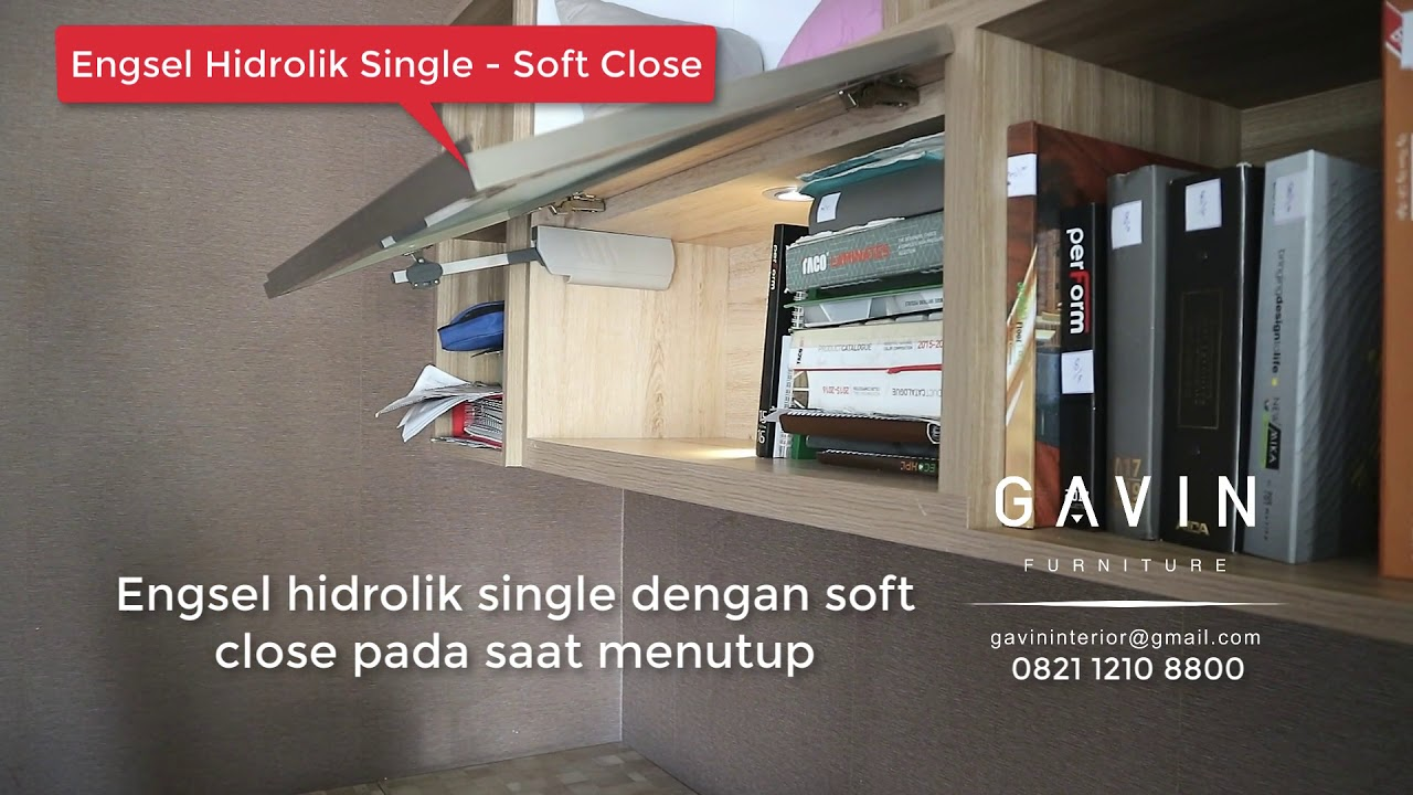 Engsel Hidrolik Single Soft Close Gavin Furniture Youtube