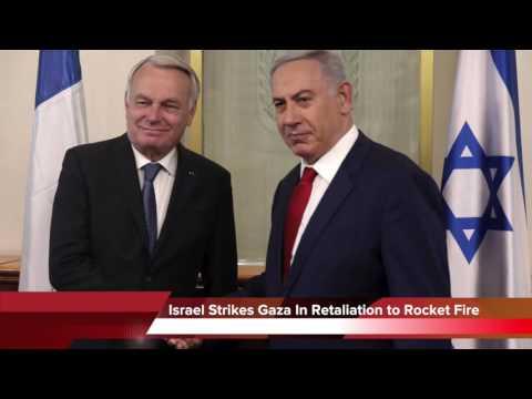 Israel Strikes Gaza Strip In Retaliation To Rocket Fire - 09/14/16