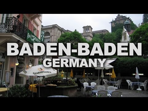 Baden-Baden, a Spa Town at the Edge of the Black Forest in Germany