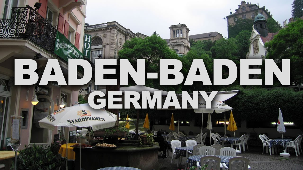 baden baden a spa town at the edge of the black forest in germany youtube. Black Bedroom Furniture Sets. Home Design Ideas