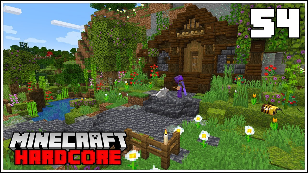 Minecraft Hardcore Let's Play - NEW HOBBIT HOLE BASE IN 1.17!!!
