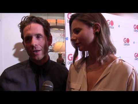Glenn Howerton and Jill Latiano at Go Campaign Gala