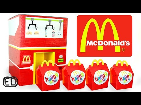 The LEGO McDonald's Happy Meal Maker | Chicken Nuggets, Hamburgers & SURPRISE Toy
