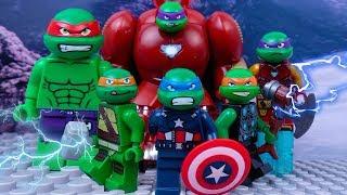 LEGO TMNT as Avengers and Ninja Turtles