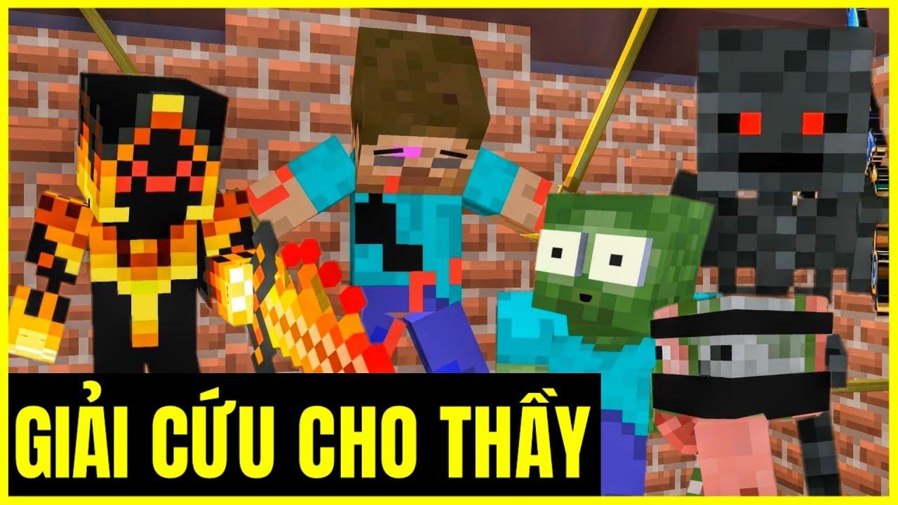 [ Lớp Học Quái Vật ] Tìm Bộ Ba Hủy Diệt Để Cứu Thầy #TậpCuối | Minecraft Animation