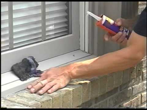 Cauking Exterior Wooden Window Sill Youtube