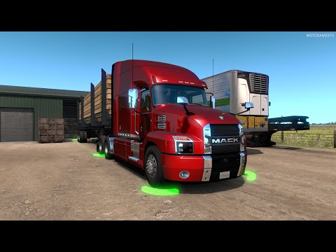 American Truck Simulator - Mack Anthem Customization And Gameplay