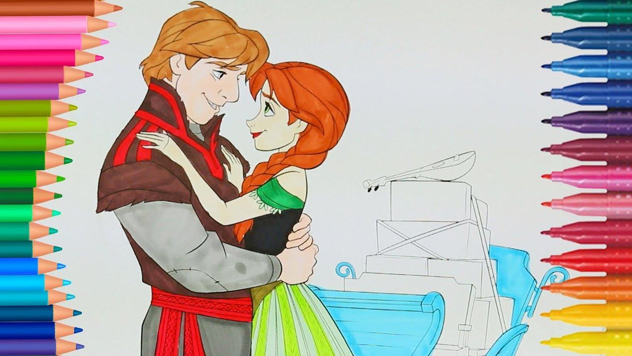 Frozen Prenses Anna Boyama Sayfası Ile Renkleri öğreniyorum