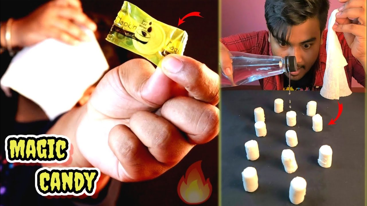 Magic Napkin Candy | নিমেষেই ক্যান্ডি থেকে রুমাল Just Amazing 🤩