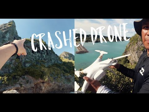 flying drone over island (gone wrong) Okinawa, Japan