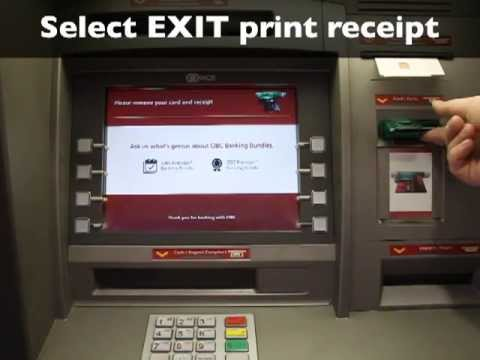 Using a bank machine (ATM) to make a deposit