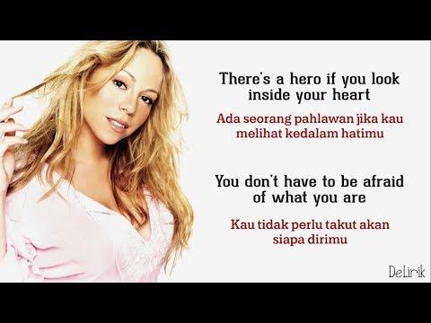 Hero - Mariah Carey (Lirik video dan terjemahan)