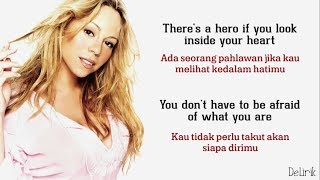 Hero - Mariah Carey (Lirik video dan terjemahan)