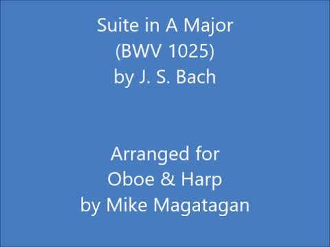 Suite in A Major (BWV 1025) for Oboe & Harp