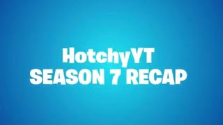 "How To UNLOCK Your ""SEASON 7 RECAP VIDEO"" (Fortnite Battle Royale Season 7 Recap)"
