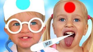 Doctor Checkup Song Spanish Version + otras Canciones Infantiles con Katya y Dima