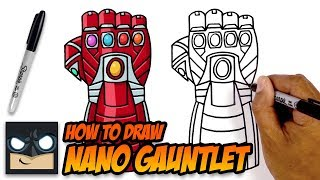 How to Draw Nano Gauntlet | The Avengers